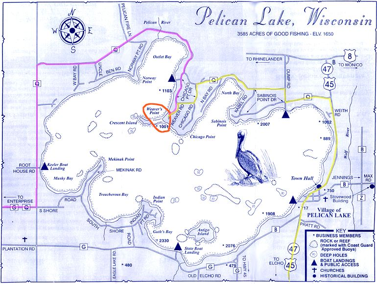 pelican lake wi map Maps And Directions Weaver S Resort Campground pelican lake wi map